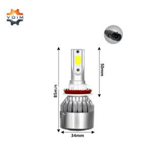 Más barato en fábrica super brillante LED C6H8 H9 H11 LED Bombillas de repuesto