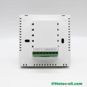 大きいLCD表示のタッチ画面のファンコイル弁システムサーモスタット