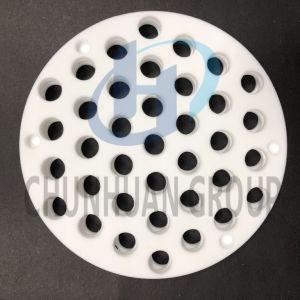 PTFE Folha redonda com orifício de PTFE peça usinada