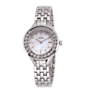 Diamantes Joyería de moda feliz Giratorio de Acero Inoxidable conjunto Watch (WY-157)