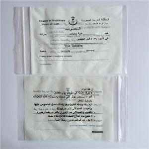 El médico/cremallera de la medicina para la fiscalización de la bolsa de plástico