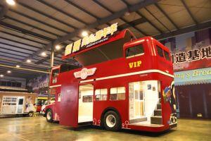 Nieuwe Gemaakte Ridder Jekeen de de Dubbele Aanhangwagen/Kar van het Voedsel van de Bus van het Dek