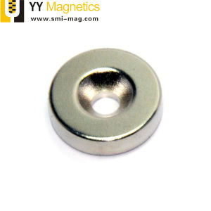 ねじ穴が付いているネオジムの磁石
