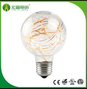 G80/G95/G125 dekorative Zeichenkette-Licht RGB-Dekoration-Birne des kupfernen Draht-LED für Weihnachtsfeiertag