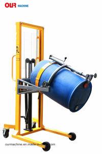 工場製造業者の携帯用ドラムハンドラ油圧手動ドラムPourerのドラム揚げべらDa450