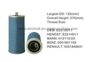Professtional alimentación de alta calidad de los filtros de combustible H210W01 para motor Hengst
