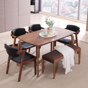 Muebles de madera moderno restaurante de madera juego de mesa de comedor para el hogar