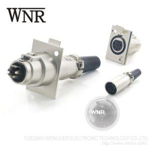 Zoccolo M12 3 4 della spina di aeronautica di Wnre connettore circolare di aeronautica di 5 Pin