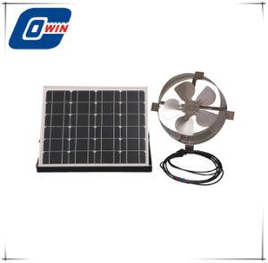 Ventilador de ar Solar na garagem para circulação de ar