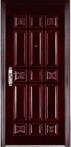 Steel-Wooden porta de entrada para o apartamento e Villa
