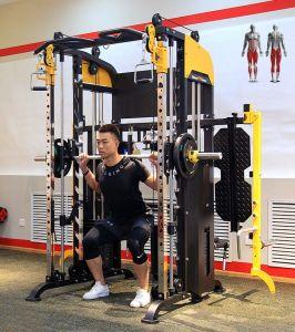 F9007 comercial de buena calidad gimnasio en casa Equipo de gimnasio Multifuncional Trainer Smith máquina power rack