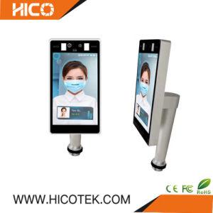 Hicotek Térmica de reconocimiento facial de detección de temperatura del cuerpo Ai Tiempo IP CCTV Asistencia Detector de controlador de la máquina de la Cámara de corona