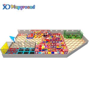 Design personalizado Grande Parque de Diversões Kids Soft equipamentos de playground coberto