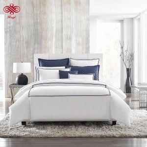 100% algodão Percale puro Bordados Hotel Bedding Set
