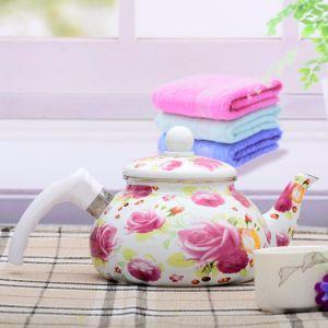 Lindo silbido elegante jarra esmalte adhesivo/Tetera