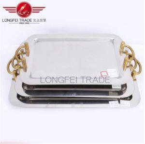 Comercio al por mayor espejo ovalado de acero inoxidable/Bandeja Ovalada que sirve en bandeja