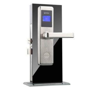 Acesso ao cartão sem contato inteligente da fechadura da porta do hotel com cartão de RFID e ecrã LCD, sistema de fechadura de hotel