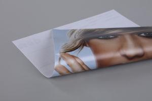 A mídia de impressão no exterior de material publicitário de PVC Scrim Lona Banner Flex