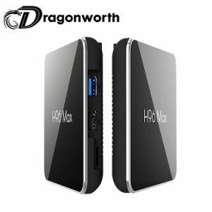 Ultra HD video AndroidS905X2 Android 8.1 Fernsehapparat-Kasten Ott Fernsehapparat-Kasten-verdoppeln androider Kasten-Vierradantriebwagen-Kern H96 maximales S905X2 4G 64G WiFi