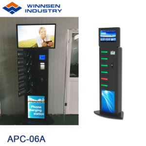 19 Zoll-Bildschirm-Anzeigen-Bildschirmanzeige-Fußboden-stehender Handy-Ladestationen