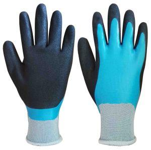 Doublure en nylon, Latex double revêtement Gants de travail