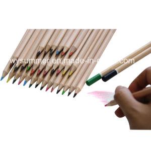 Crayons de couleur bois de la nature avec une trempette fin