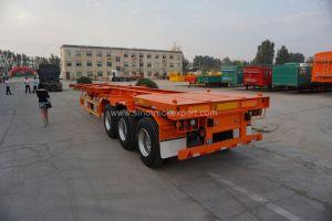 半3つの車軸容器輸送の骨組トレーラトラック