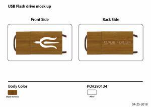 USB personalizados de madera con grabado de la marca Logotipo USB Pen Drive U038b/BM02
