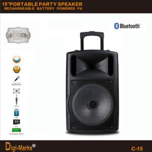 Altoparlante attivo del carrello della batteria stereo multifunzionale di Bluetooth di prezzi di fornitore di Guangzhou