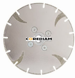 Lâmina de serra Electroplated de granito e mármore/Ferramenta de diamante/Disco de Corte
