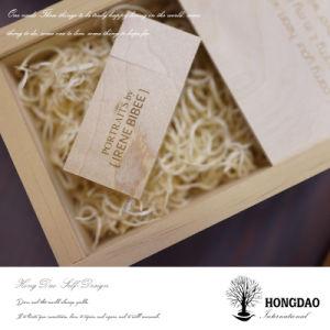 Gift Box_C van de Doos van de Foto van het Huwelijk van de Doos van Hongdao de Houten