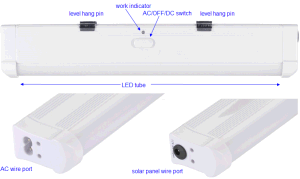 AC DC LED de energía solar recargable con luz del tubo de 5 Clase de iluminación