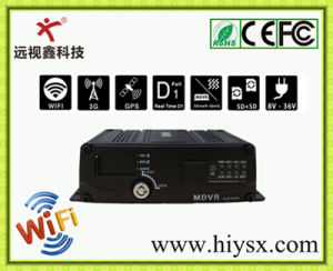 4CH Dual Mini Sd Card Vehicle Mobile DVR, GPS Tracking, 3G WCDMA, WiFi, (Economical)