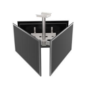 потолочный монтаж Menuboard 3-экранов Vesa Max. 600*400
