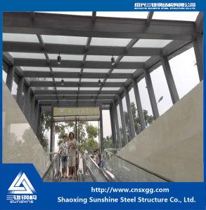 Estructura de acero con cristal para el almacén subterráneo