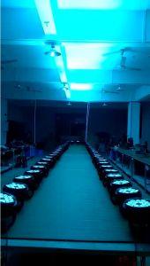 防水4in1 18PCS LEDのアルミニウム同価の段階のディスコライト