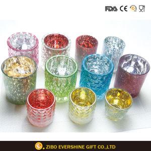 Comercio al por mayor de alta calidad personalizado portavelas de vidrio decorativo