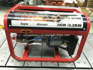 3kw 7HP 100% 가정 사용을%s 구리 휴대용 침묵하는 가솔린 발전기