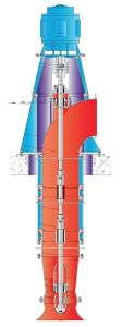 L'intersection de Parallels verticale de la pompe à débit mixtes