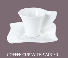 Tasse à café en céramique avec soucoupe+00714 Set (00713)