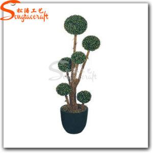 Graden decoração artificial de PVC Topiary Vegetais Bonsai Tree