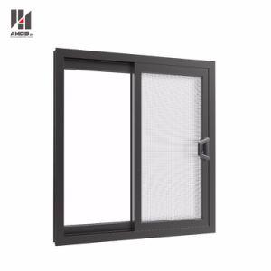De alta calidad personalizado sistema comercial semi Ventana de cristal de ventana corrediza de aluminio con pantalla Crimsafe