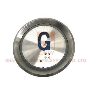 Höhenruder-Aufruf-Taste ABS Unterseite mit MetallCircleouter Rahmen (SN-PB960)