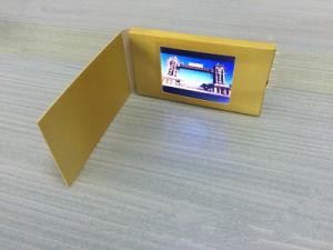 2.4 cartolina d'auguri di piccola dimensione popolare del riproduttore video dell'affissione a cristalli liquidi del USB Digitahi di pollice, video scheda di nome in bianco