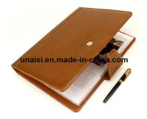 Dispositivo di piegatura di cuoio espandentesi di affari dell'organizzatore del documento dell'archivio del Faux del documento A4