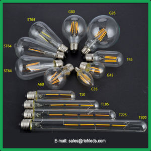 St64 6W LED regulável de lâmpada de Edison /lâmpada de incandescência/Ce/RoHS//Luz de Iluminação
