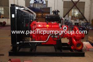 Motor diesel Bomba de fuego, la norma NFPA20 Bomba de fuego, la fábrica de bombas contra incendios de alta capacidad de suministro con motor Diesel, dividido en caso de la bomba centrífuga