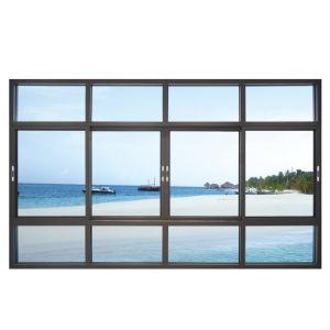 Petit profil en aluminium double vitre coulissante en verre trempé pour la maison