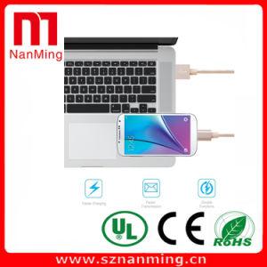 Cargador de cable micro USB cable de sincronización de datos de carga para Android + iPhone