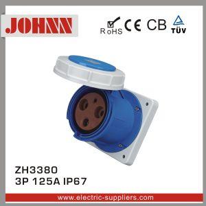 IP67 3p 125A embase à montage panneau droit